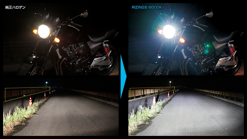 バイク用ledヘッドライト rizing2 h9 h11 srbh9 12 800 hidキット