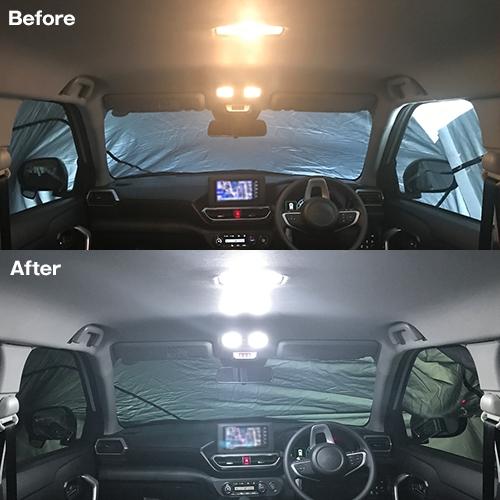 ライズ/ロッキー専用 LEDルームランプセット    [SLRM-22] / ¥3,480/HIDキット LEDヘッドライト販売のスフィアライト