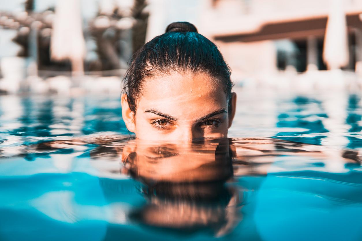 Sports spoit eyecatch beauty effect of swimming