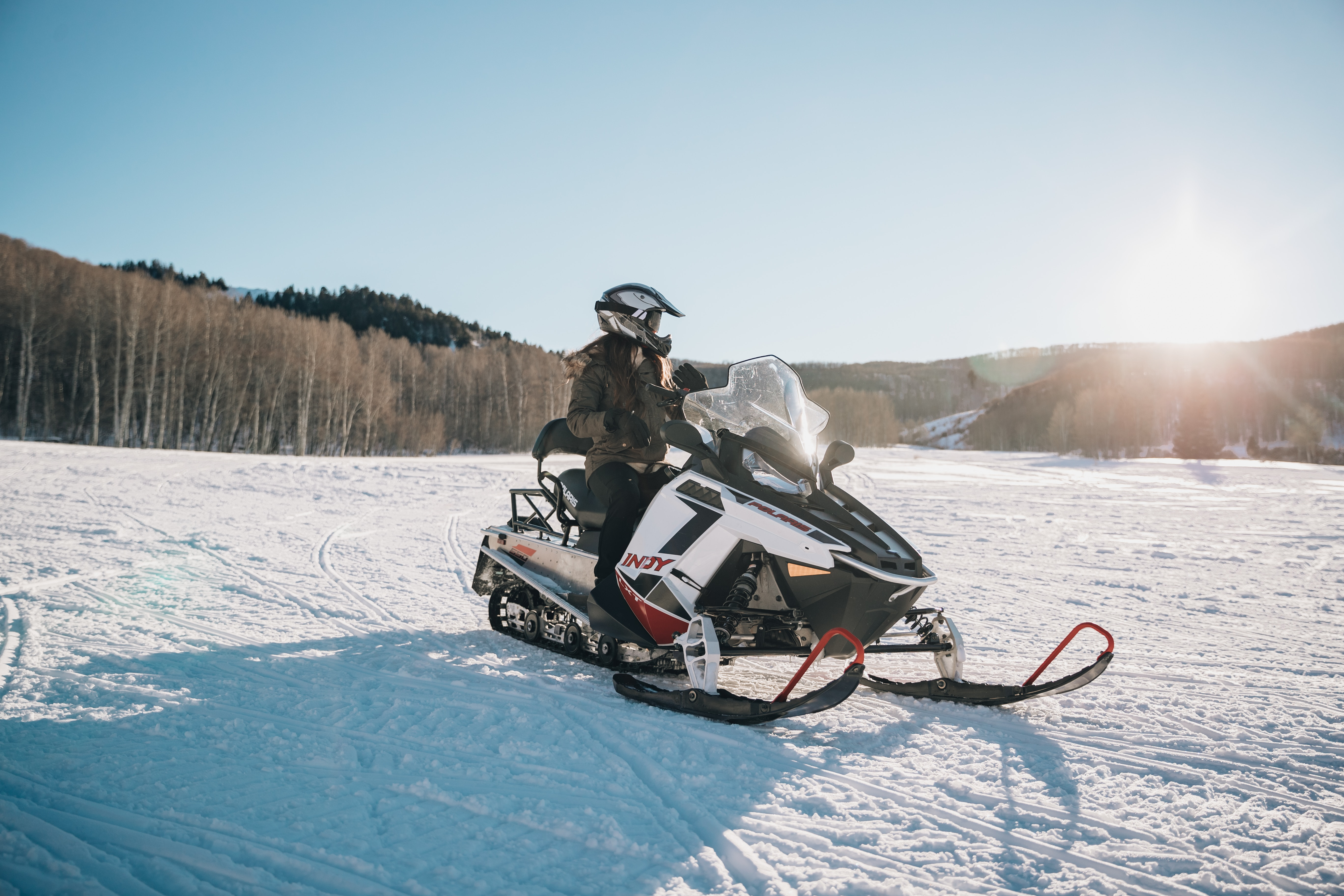 Sports spoit eyecatch snowmobile