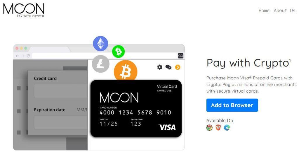Moon🌕#BitcoinでVisaプリペイドクレジットカードが使えるサービス
