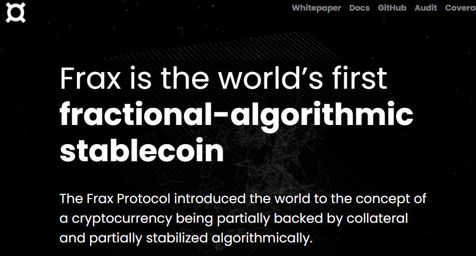 【調べ物】アルゴリズミックステーブルコイン:FRAX FINANCE