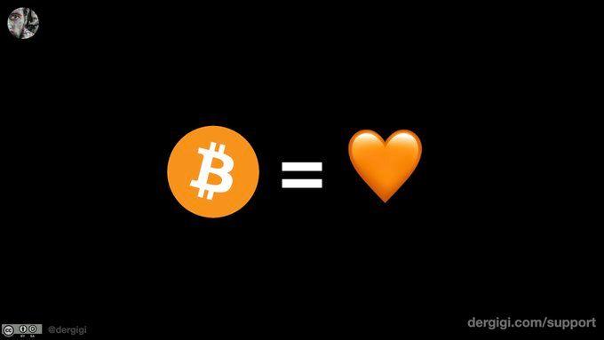 """""""Bitcoin is Love"""" by @dergigi"""