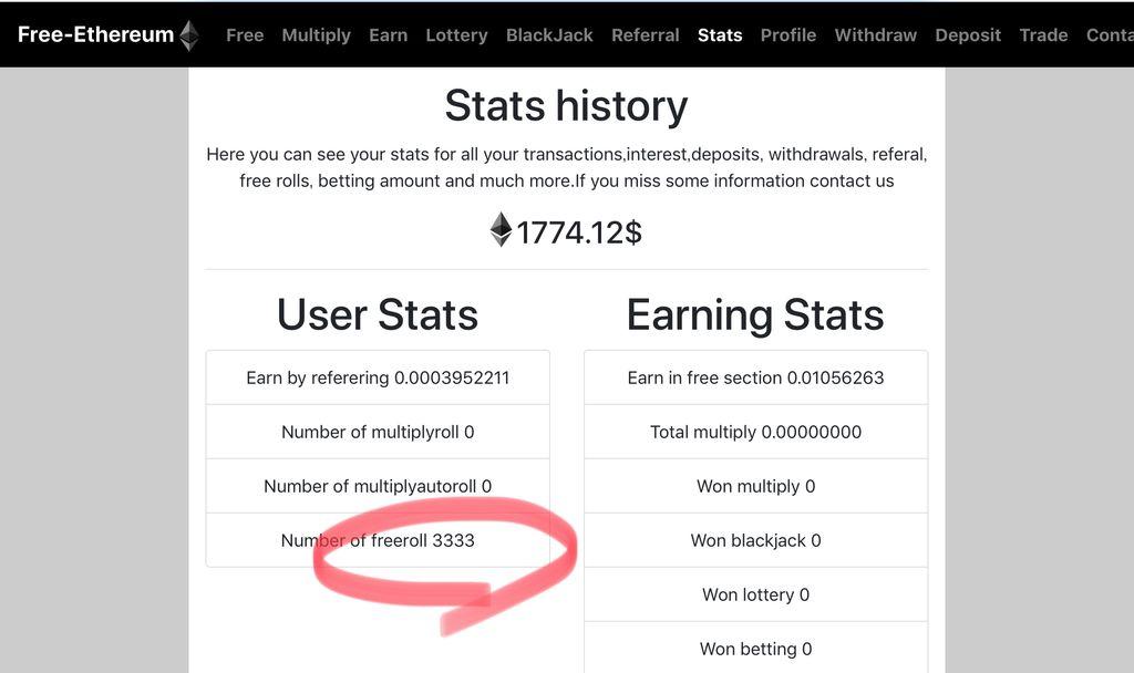 フリーイーサリアムで3,333ロール到達(2021/03/12)