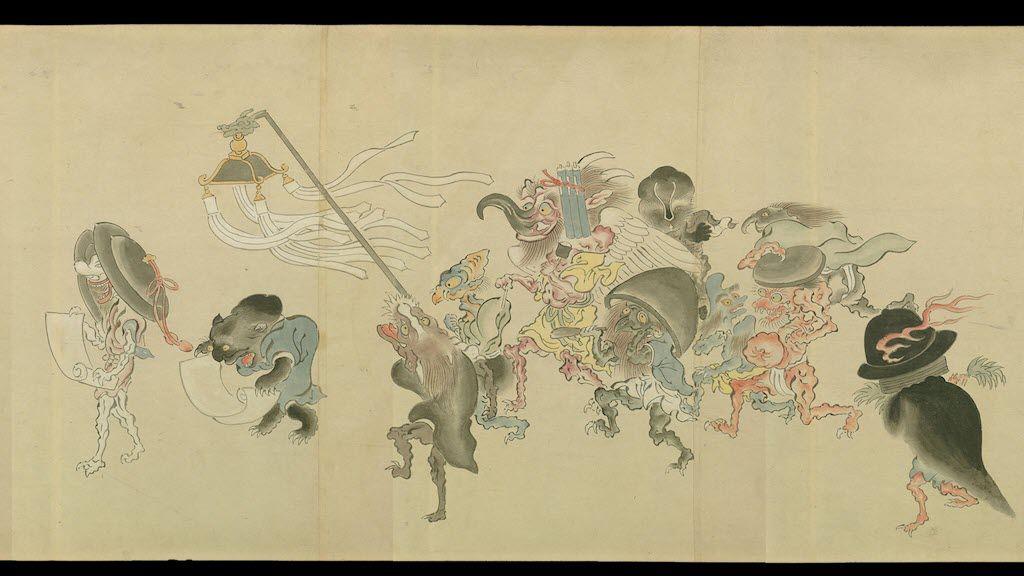 『百鬼夜行絵巻』(伝土佐光重筆本の模写) Hyakki Yakō Emaki