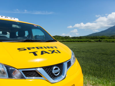 Sprint Taxi Close Up Front Angle