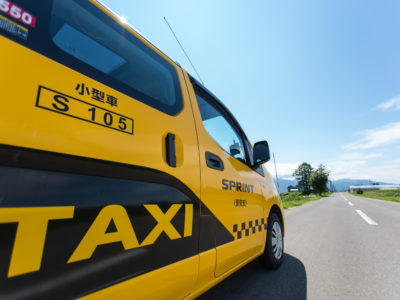 Sprint Taxi Close Up Side