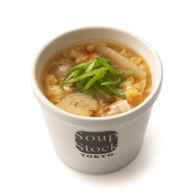 筍と豚肉の春酸辣湯(サンラータン)
