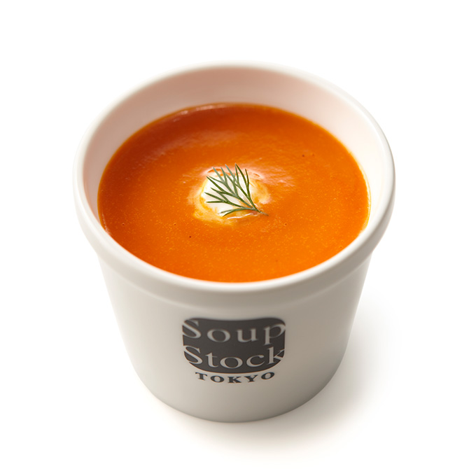 焼きパプリカのクリームスープ
