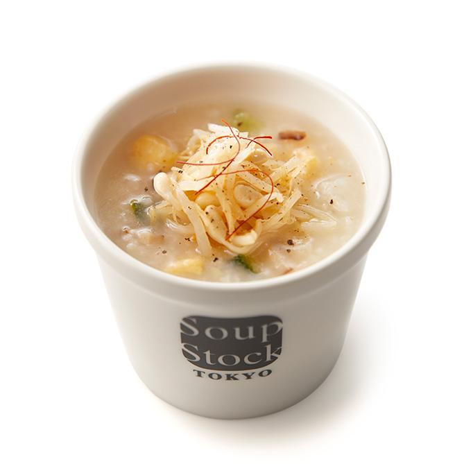 干し鱈(たら)と玉子の韓国粥