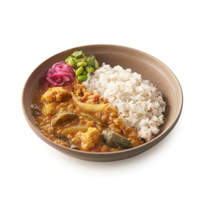 サンバール(豆と野菜のスパイスカレー)