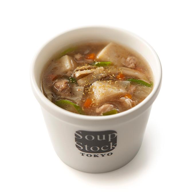 九条葱と鴨だしの和風スープ