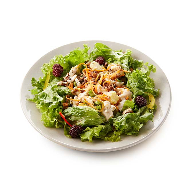 鶏むね肉とピーカンナッツのグレインズサラダ