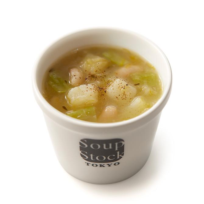 ポロ葱と白いんげん豆のミネストローネ