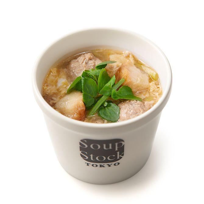 仙台麩とクレソンの中華風スープ