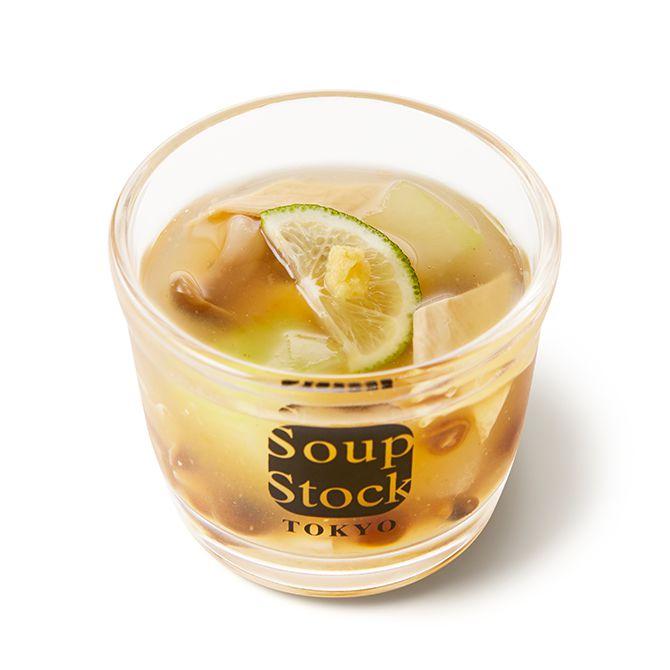 京湯葉の冷たい澄ましスープ