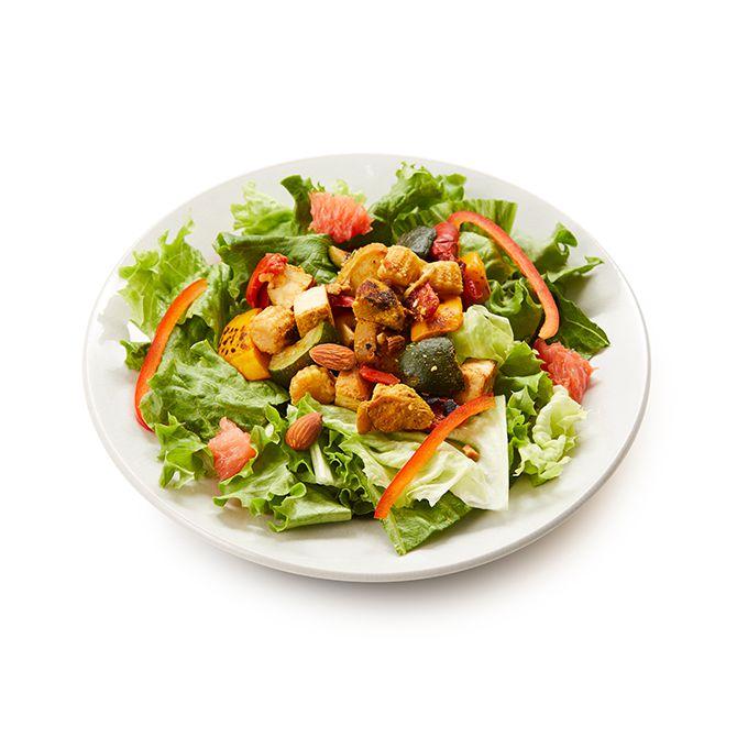 夏野菜とタンドリーチキンのサラダ