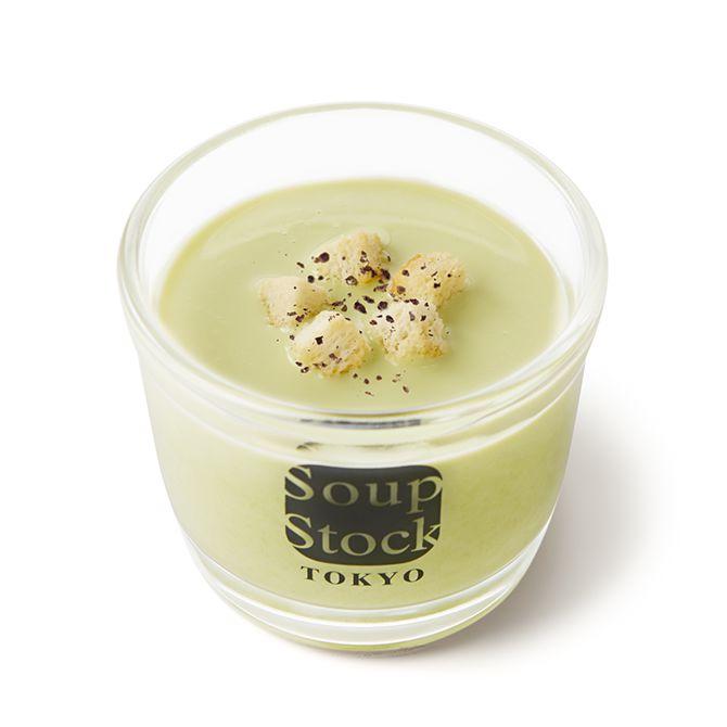 えんどう豆の冷たいグリーンポタージュ