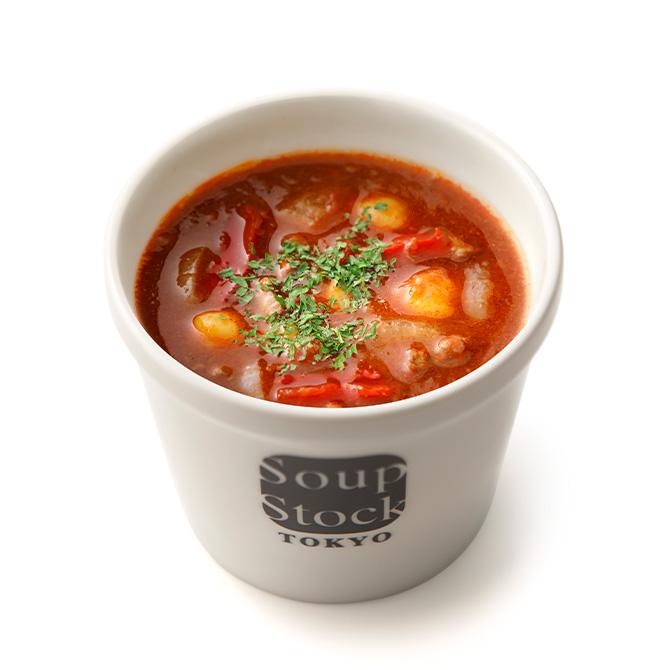 牛肉とトマトのハンガリー風スープ*
