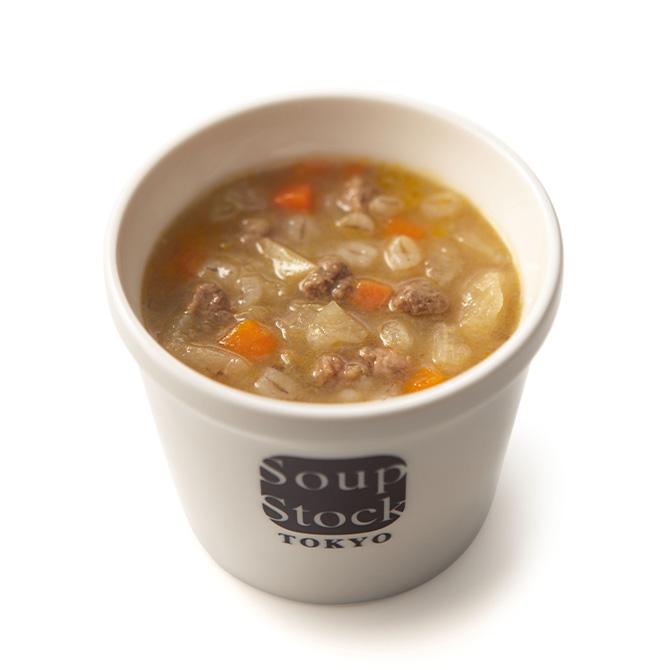 野菜と大麦のビーフスープ*