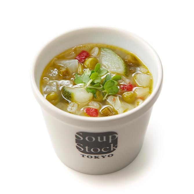 緑の野菜と岩塩のスープ*