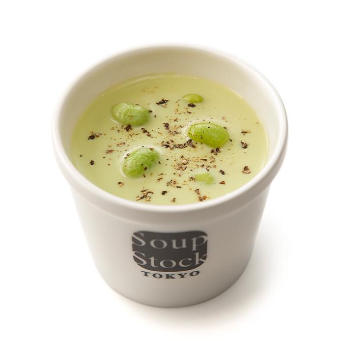 枝豆とえんどう豆のグリーンポタージュ