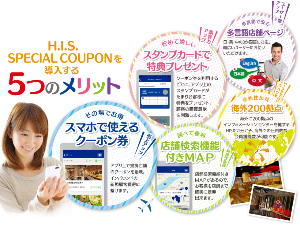 HIS SPECIAL COUPONを導入する5つのメリット
