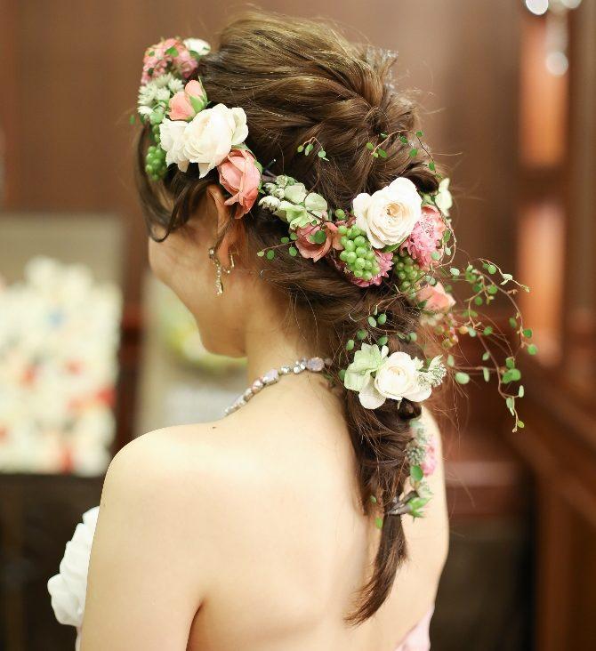 結婚式 お姫様 ヘア