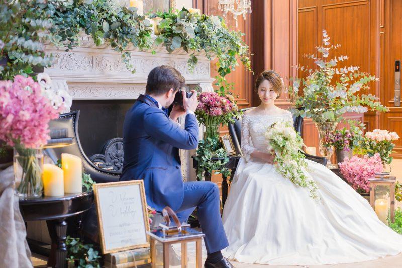 花嫁を撮影