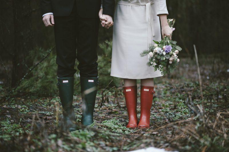 雨 結婚式 演出 レインブーツ