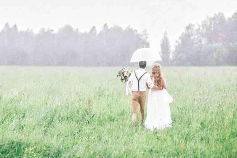 天気結婚式雨