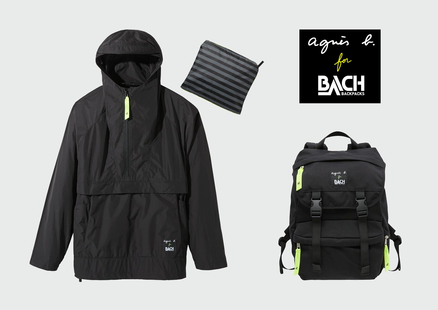 アニエスベー×BACHコラボレーション  アノラックジャケットとバックパック3月上旬発売!