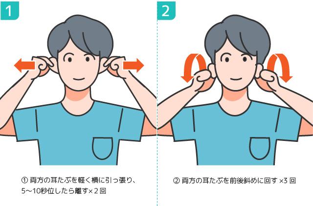 低気圧体調不良自律神経内耳の血流を促すのに効果的!耳ストレッチ