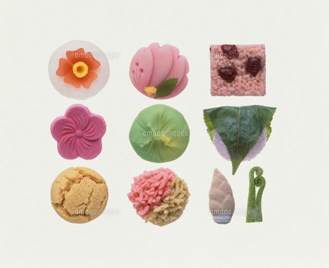 いろいろな和菓子00709000004の写真素材イラスト素材アマナイメージズ