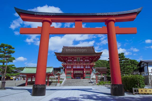 伏見稲荷大社の大鳥居と楼門00791011768の写真素材イラスト素材