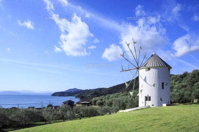 小豆島オリーブ公園と風車[01010...