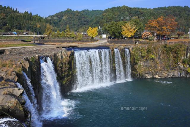 原尻の滝と紅葉[01010020592]| ...