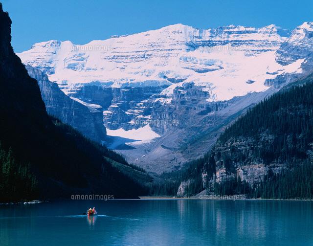 バンフ国立公園の湖 レイクルイーズ カナダ