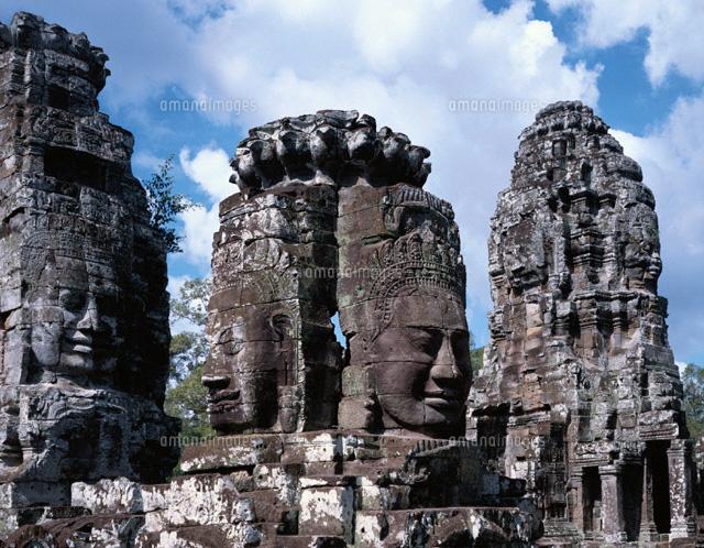 バイヨン寺院の四面仏像 アンコ...