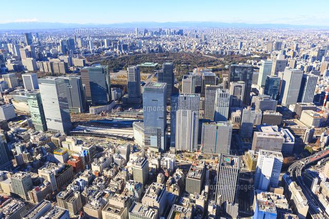 中央区上空より東京駅と丸の内ビル群