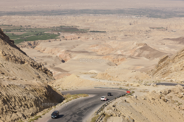 ヨルダン地溝帯の眺望[014310358...