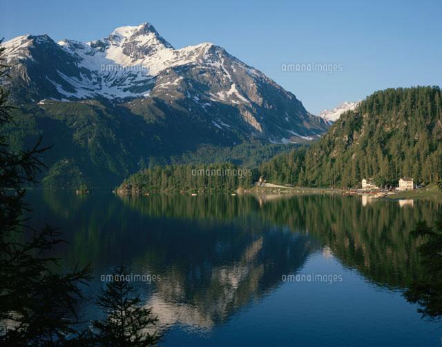 シルス湖とエンガデンの山 スイ...