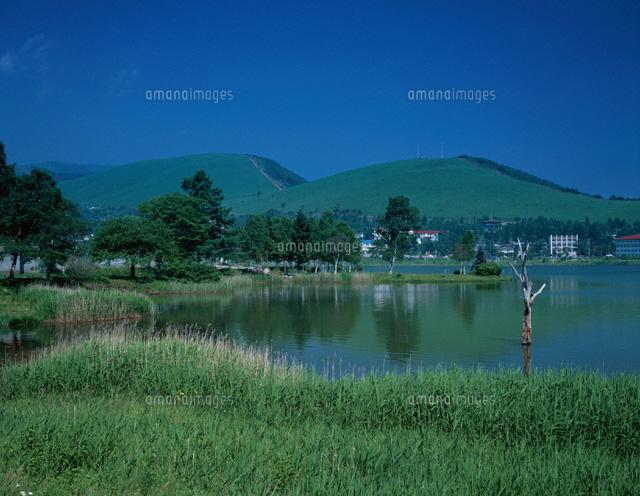 白樺湖と霧ヶ峰 長野県 01597002018 の写真素材 イラスト素材 アマナ
