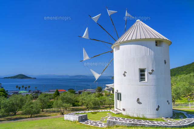 小豆島オリーブ公園のギリシャ風...