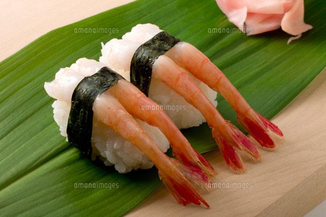 握り寿司 甘エビ01651098673の写真素材イラスト素材アマナイメージズ