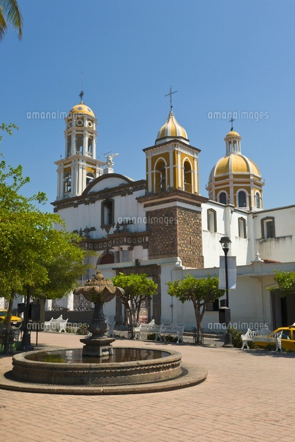 Catholic church, Comala, Colima