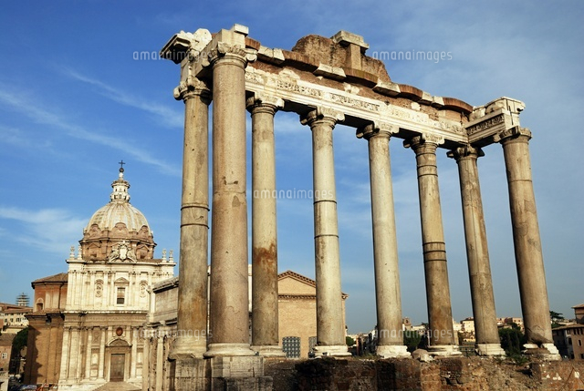 Roman forum, Saturn temple