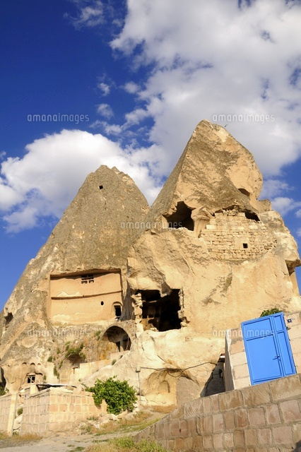 Troglodyte houses dug inside the rock