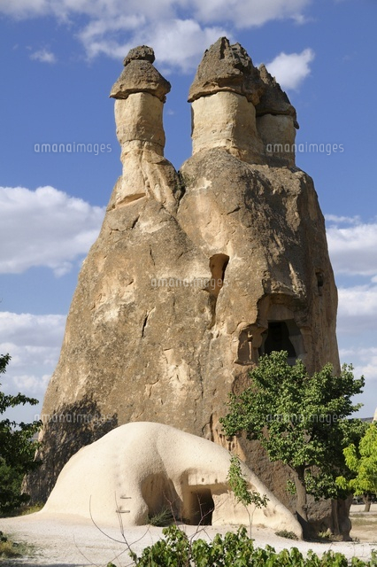 Rock of the three chimneys of fairies