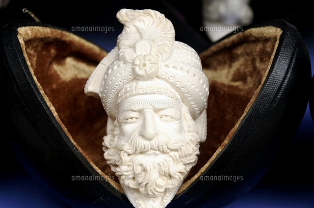 Meerschaum, pipes with form of head